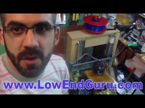 Low cost RepRap 3D Printer made with e-waste