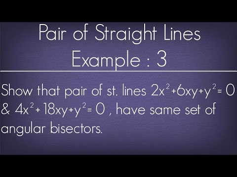 Pair Of Straight Lines Example - 3 l Maths Geometry