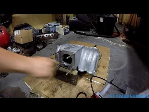 Port Matching GT40 Explorer intake to throttle body for Mustang Fox Body project