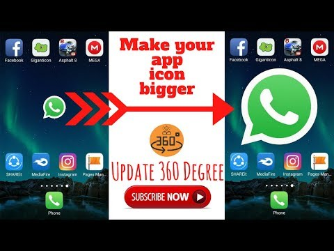 Make your app icon bigger on android | How to enlarge app icons on android | New android tricks 2017