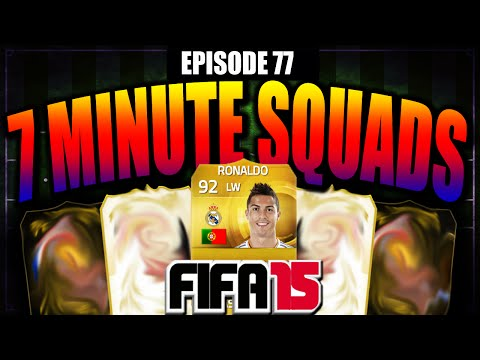 C.RONALDO!!! 7 MINUTE SQUADS #EP77 - FIFA 15 ULTIMATE TEAM