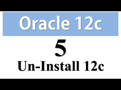 Oracle Database 12c Tutorial 5: How To Uninstall Oracle Database 12c From Windows 7