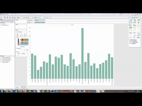 How To... Create a Basic Bar Chart in Tableau