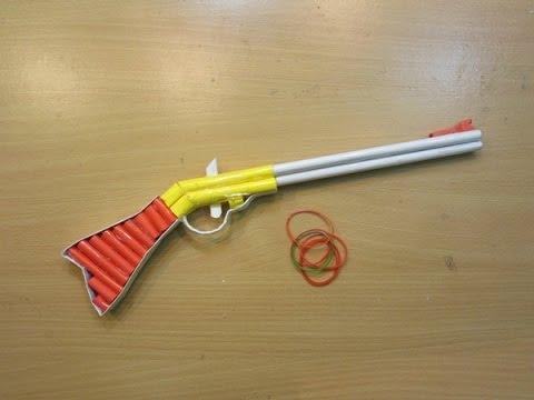 How to Make a Paper Gun that Shoots (1860 Henry Assault Rifle )  - Easy Tutorials