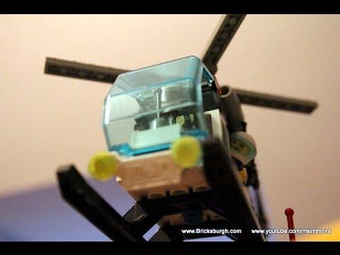 Lego Police Helicopter - How to Build Air Patrol - Bricksburgh.com Instructions