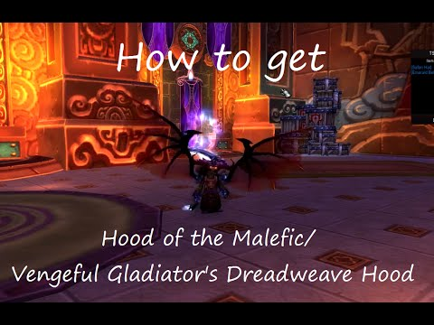 How to get Hood of the Malefic : Warlock transmog head with wings effect