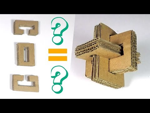 How to Make a Cross Puzzle from Cardboard - Cardboard Puzzle