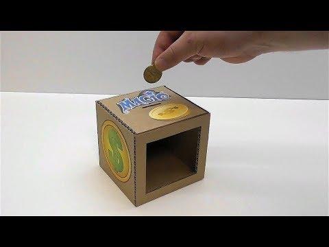How to make a magic piggy Bank of cardboard Magic trick piggy Bank