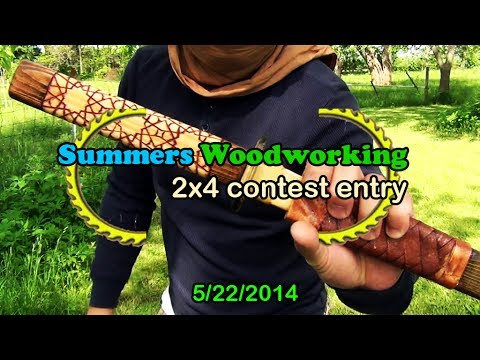Summers Woodworking 2x4 Contest Entry: Simulated Damascus Steel Toy Sword