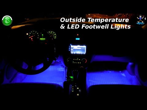 How To Install LED Footwell Lighting & Outside Temperature Gauge