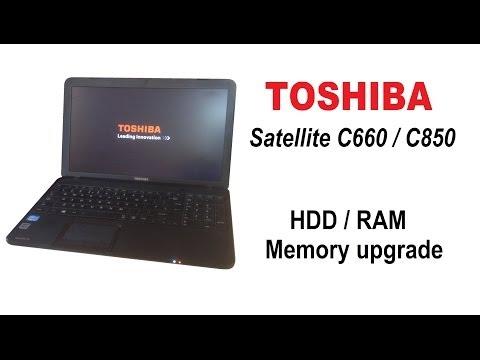 TOSHIBA Satellite C850 / C660 - SATA HDD, RAM memory upgrade, replacing