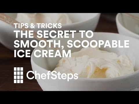 Tips & Tricks: The Secret to Super-Smooth, Highly Scoopable Ice Cream