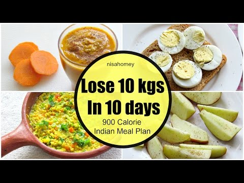 How To Lose Weight Fast 10 kgs in 10 Days  - Full Day Indian Diet/Meal Plan For Weight Loss
