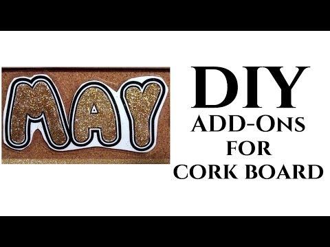 Dollar Tree DIY ADD-ONs for Cork Board Calendar