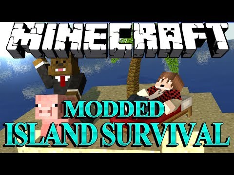 NEW MOBS AND WEAPONS Minecraft Modded Survival Island Let's Play w/ BajanCanadian! #1