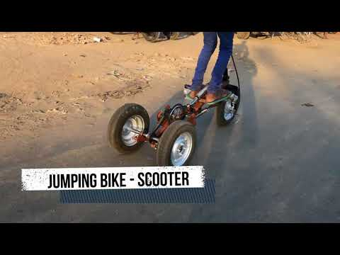 How to make jumping scooter   suspension Bike yourself