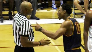 demar derozan throws ball at ref hard walks out pissed after drew league loss