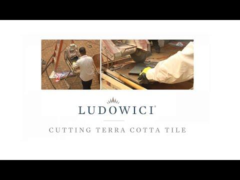 Cutting Terra Cotta Roof Tile