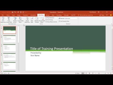 Create custom shows in PowerPoint by Chris Menard