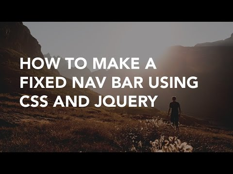 How To Make A Fixed Nav Bar Using CSS | Code Example