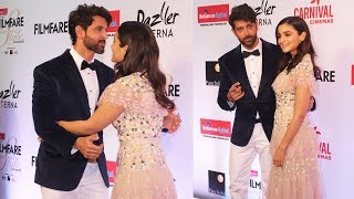 Hrithik Roshan And Alia Bhatt CUTE MOMENT At Filmfare Glamour and Style Awards 2017 Red Carpet