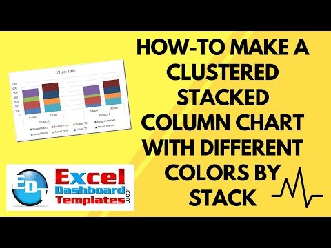 How-to Make an Excel Clustered Stacked Column Chart with Different Colors by Stack