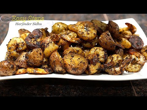 How To Cook Raw Jumbo Shrimp | Potatoes