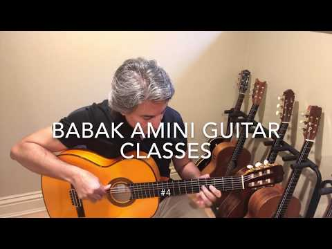 BABAK AMINI GUITAR CLASSES #4 , scales, Chords and Harmony #1