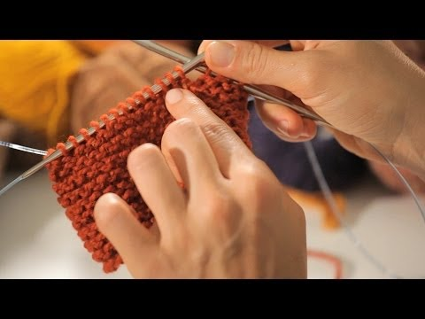 How to Do a Garter Stitch in the Round | Circular Knitting