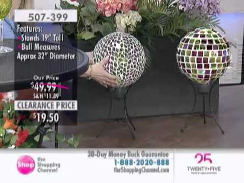 Led Mosaic Gazing Ball with Stand at The Shopping Channel 507399