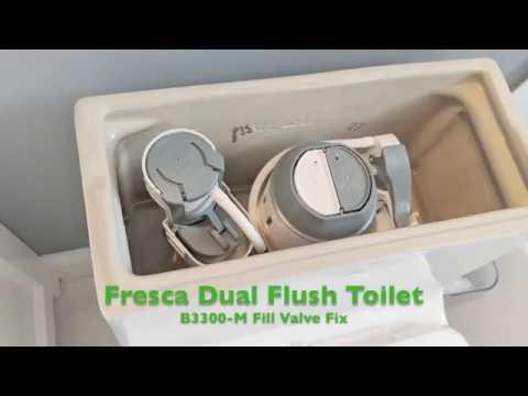 Fresca Dual Flush Toilet Fill Valve Repair Project