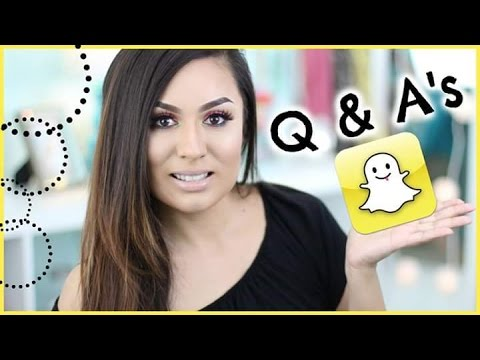 Snapchat Q & A | What Inspired You To Do Youtube?
