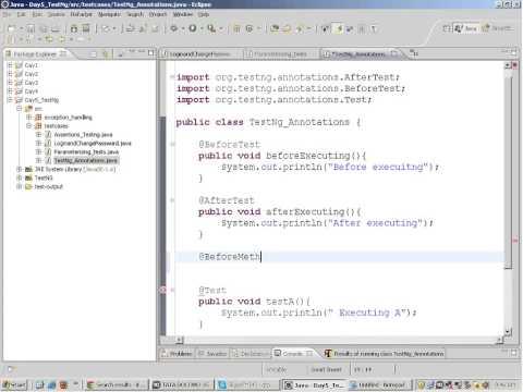TestNg Selenium Tutorial, Selenium Training, Java webdriver grid rc tesng Junit -7
