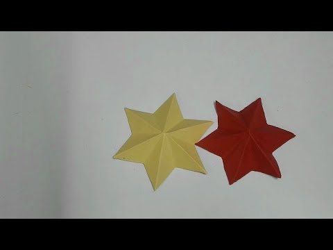 DIY 6 point star in one cut | Christmas star | 3D paper star | paper crafts star making