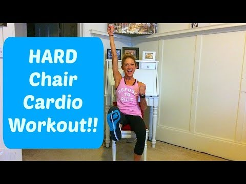 Challenging Chair Cardio Workout. Stay Fit With Injury or Disability.