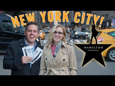 BIRTHDAY DREAM COMES TRUE! Hamilton In NYC! Ellie And Jared