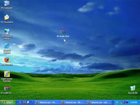 Learn Install Arbic font to winxp without CD