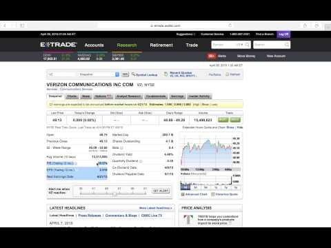 What is P/E ratio and how to use it with etrade (5 mins)
