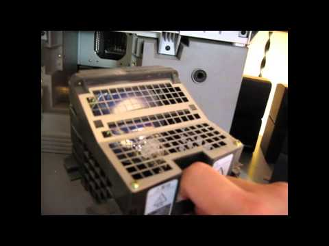 Replacing a Sony XBR Rear Projection LCD TV Lamp Assembly