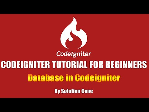 Codeigniter Tutorial for Beginners Step by Step |  Database in Codeigniter