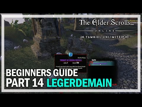 ESO Beginners Guide Part 14 Legerdemain Leveling - The Elder Scrolls Online