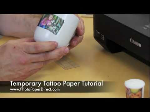 Temporary Tattoo Paper Tutorial By Photo Paper Direct