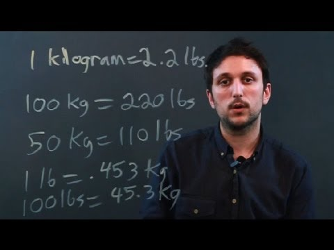What Is the Difference Between Pounds & Kilograms? : Measurement Conversions