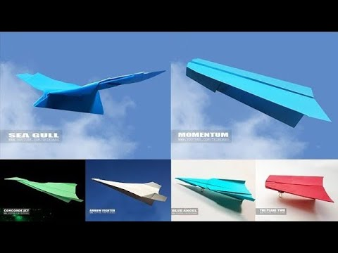 PAPER AIRPLANE TEST FLIGHTS | The world of best paper airplanes (2018)