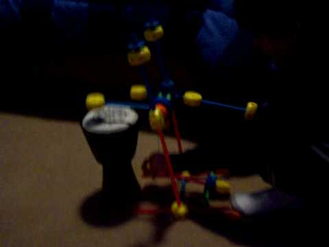 Tinkertoy drum with foot pedal