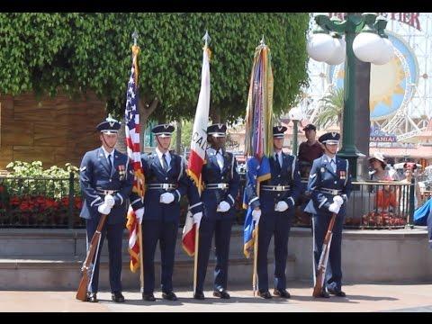 U. S. Air Force Honor Guard performs at the Disneyland Resort