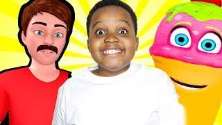 Shiloh and Shasha JOHNY JOHNY Yes Papa - Giant Donuts and Gummies! - Onyx Kid