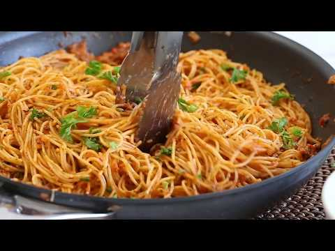 Roasted Red Pepper and Chipotle Pepper in Adobo Angel Hair Pasta Recipe