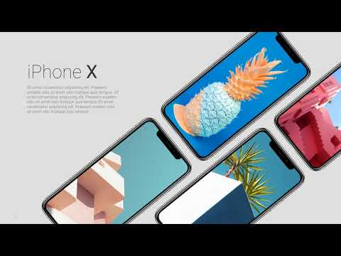 Free Powerpoint Slides with iPhone X   |   Awesome Mockups   |   High Quality Freebie
