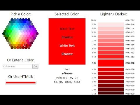 HTML Color Picker- DeeDoOo World